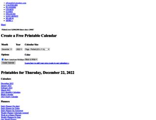 eprintablecalendars.com screenshot