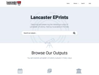 eprints.lancs.ac.uk screenshot