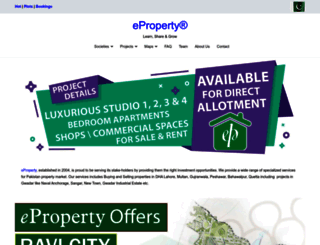 eproperty.pk screenshot