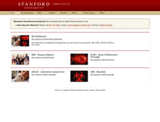 eprotocol.stanford.edu screenshot