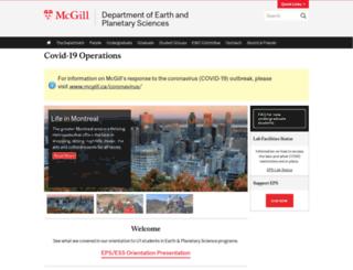 eps.mcgill.ca screenshot