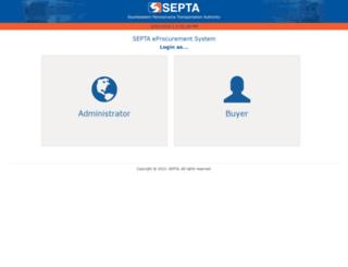 epsadmin.septa.org screenshot