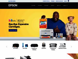 epson.ca screenshot