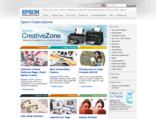 epsoncreativezone.com screenshot
