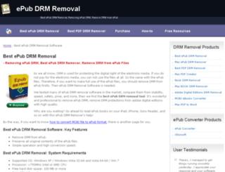 epub-drm-removal.com screenshot