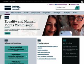 equalityhumanrights.com screenshot