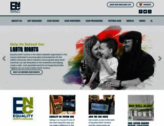 equalitync.org screenshot