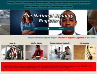equalityregister.co.uk screenshot