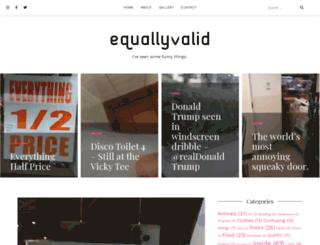 equallyvalid.com screenshot