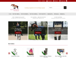 equestrianworld.co.uk screenshot