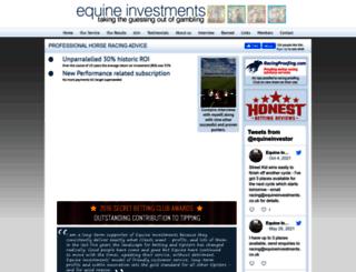 equineinvestments.co.uk screenshot