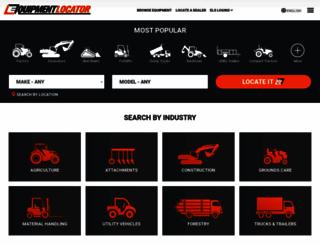 equipmentlocator.com screenshot