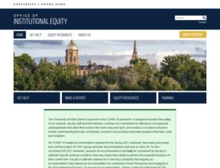 equity.nd.edu screenshot