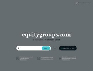 equitygroups.com screenshot