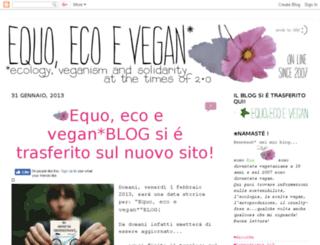 equoecoevegan.blogspot.it screenshot