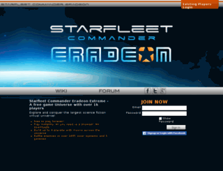 eradeon2.playstarfleet.com screenshot