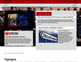 ercim.eu screenshot