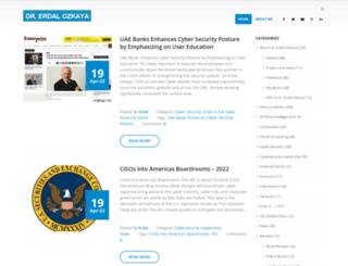 erdalozkaya.com screenshot