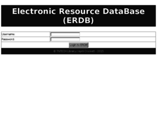 erdb.tntech.edu screenshot