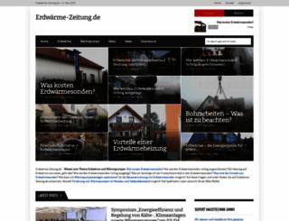 erdwaerme-zeitung.de screenshot