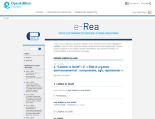erea.revues.org screenshot