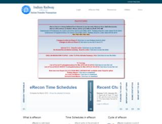 erecon.railnet.gov.in screenshot