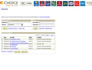 erecruit.choicehotels.com screenshot