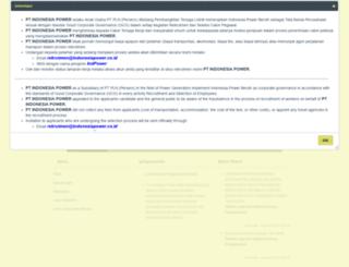 erecruitment.indonesiapower.co.id screenshot