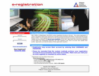 eregister.poea.gov.ph screenshot