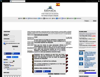 erepublikspain.org screenshot