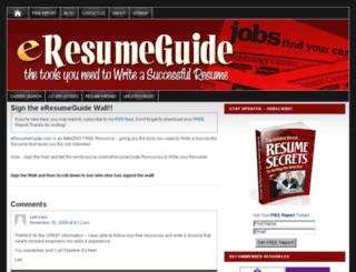 eresumeguide.com screenshot