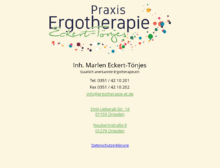 ergotherapie-petschel.de screenshot