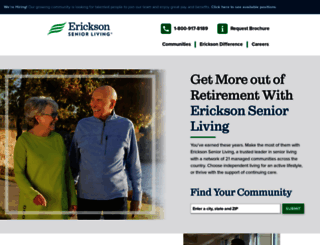 ericksonliving.com screenshot