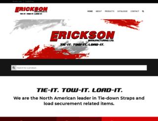 ericksonmfg.com screenshot