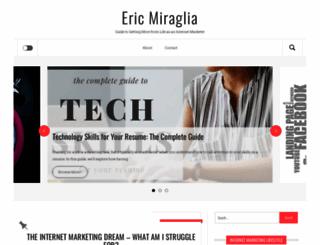 ericmiraglia.com screenshot