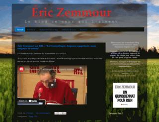 ericzemmour.blogspot.com screenshot