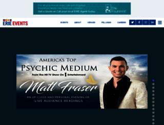 erieevents.com screenshot