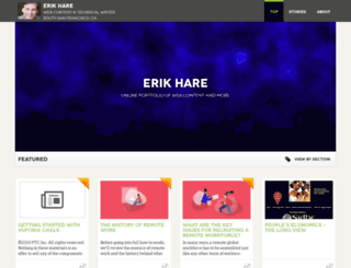 erikhare.pressfolios.com screenshot