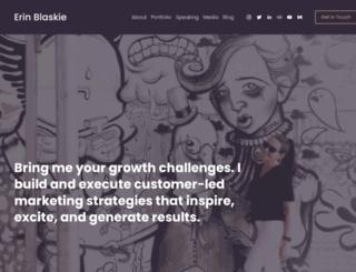 erinblaskie.com screenshot