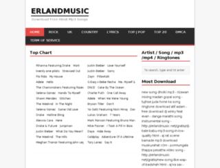 erlandmusic.net screenshot