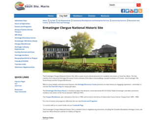 ermatingerclerguenationalhistoricsite.ca screenshot