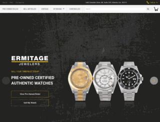 ermitagejewelers.com screenshot