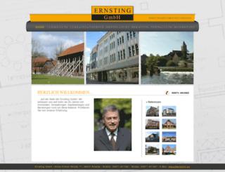 ernsting-immobilien.de screenshot