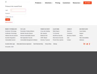 erp.acunetix.com screenshot
