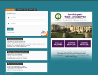 erp.jvwu.ac.in screenshot
