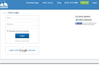 erp.yavvy.com screenshot