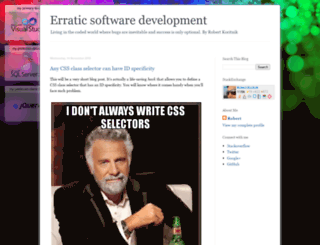 erraticdev.blogspot.ie screenshot