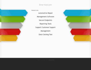 error-tool.com screenshot