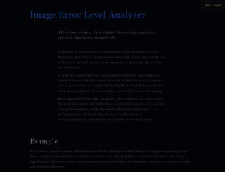 errorlevelanalysis.com screenshot