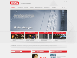 ersanasansor.com screenshot